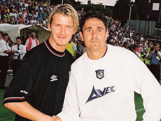 Meaks with David Beckham